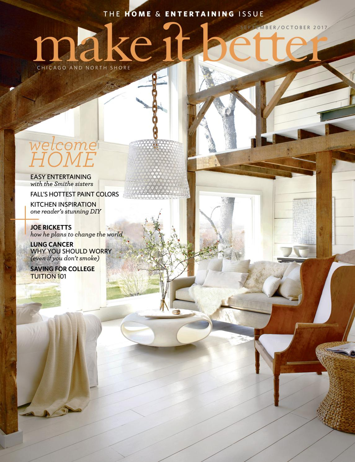 Make It Better Sept Oct 2017 Home And Entertaining Issuemake It With Regard To Chadwick Tomato Swivel Accent Chairs (View 11 of 25)