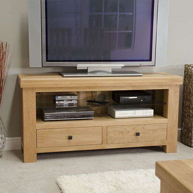 Manor Oak Tv Unit – House Of Oak With Regard To Most Up To Date Oak Tv Cabinet With Doors (Image 11 of 25)