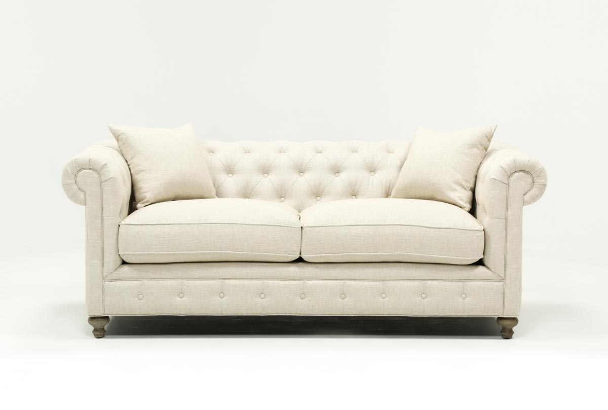 Featured Image of Mansfield Beige Linen Sofa Chairs