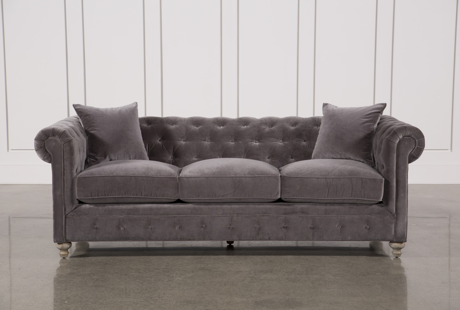Mansfield 96 Inch Graphite Velvet Sofa In 2018 | Products Inside Mansfield Graphite Velvet Sofa Chairs (View 2 of 25)