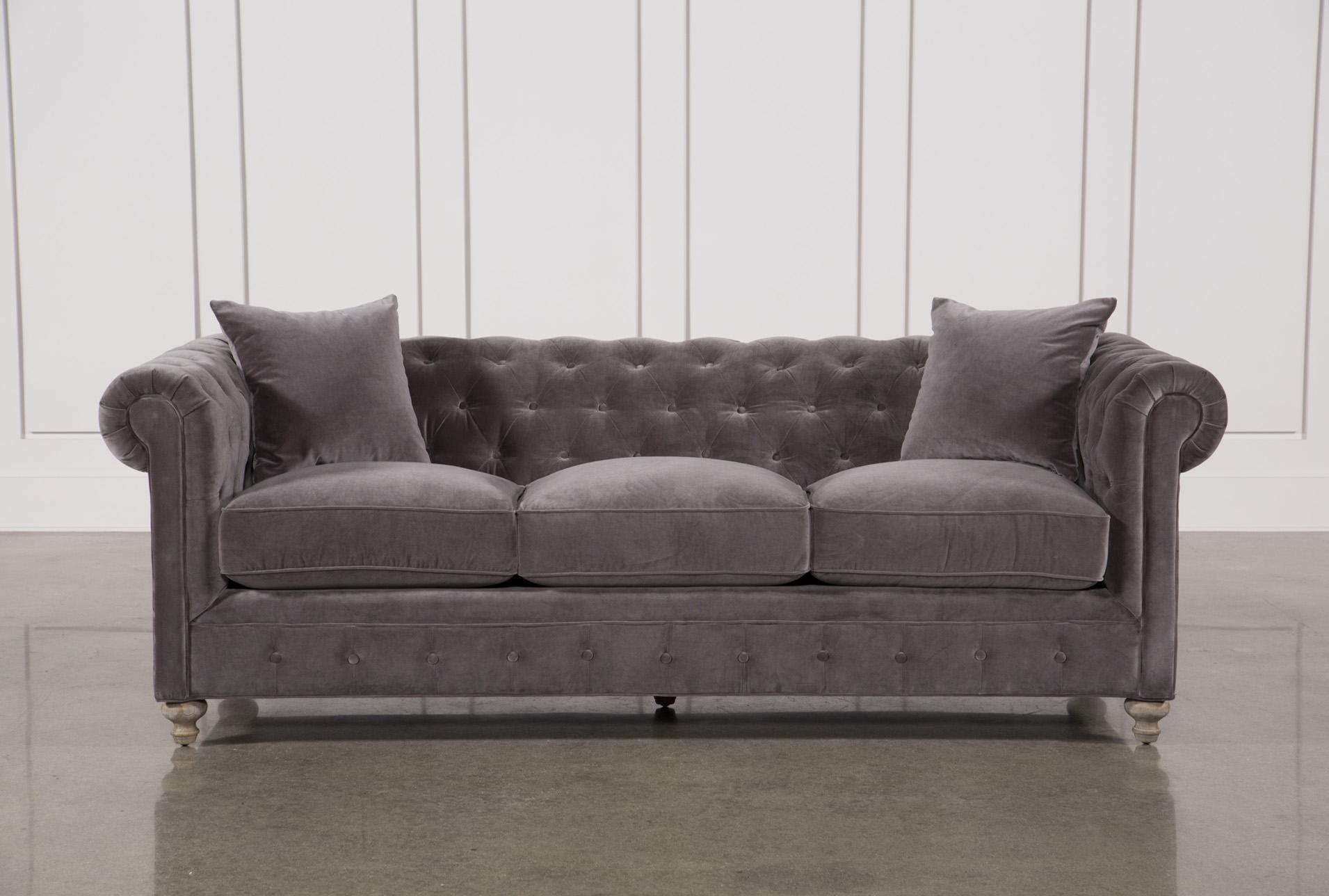 Mansfield 96 Inch Graphite Velvet Sofa In 2018 | Products Inside Mansfield Graphite Velvet Sofa Chairs (Image 11 of 25)