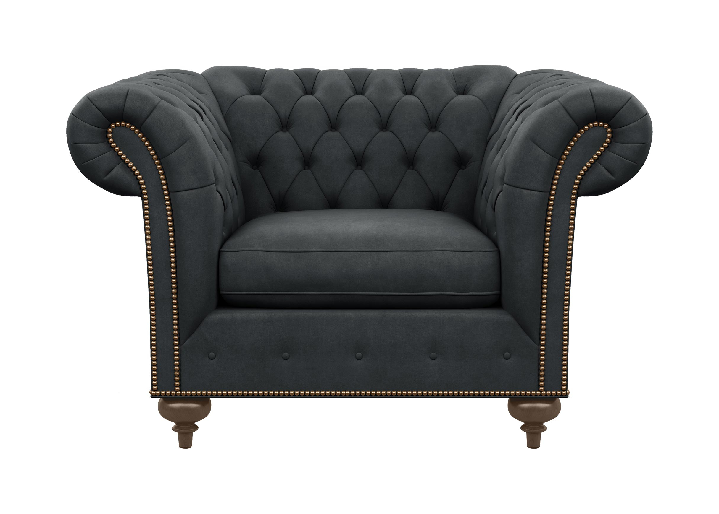 Mansfield Chair | Chairs & Chaises | Ethan Allen Inside Mansfield Graphite Velvet Sofa Chairs (Image 12 of 25)