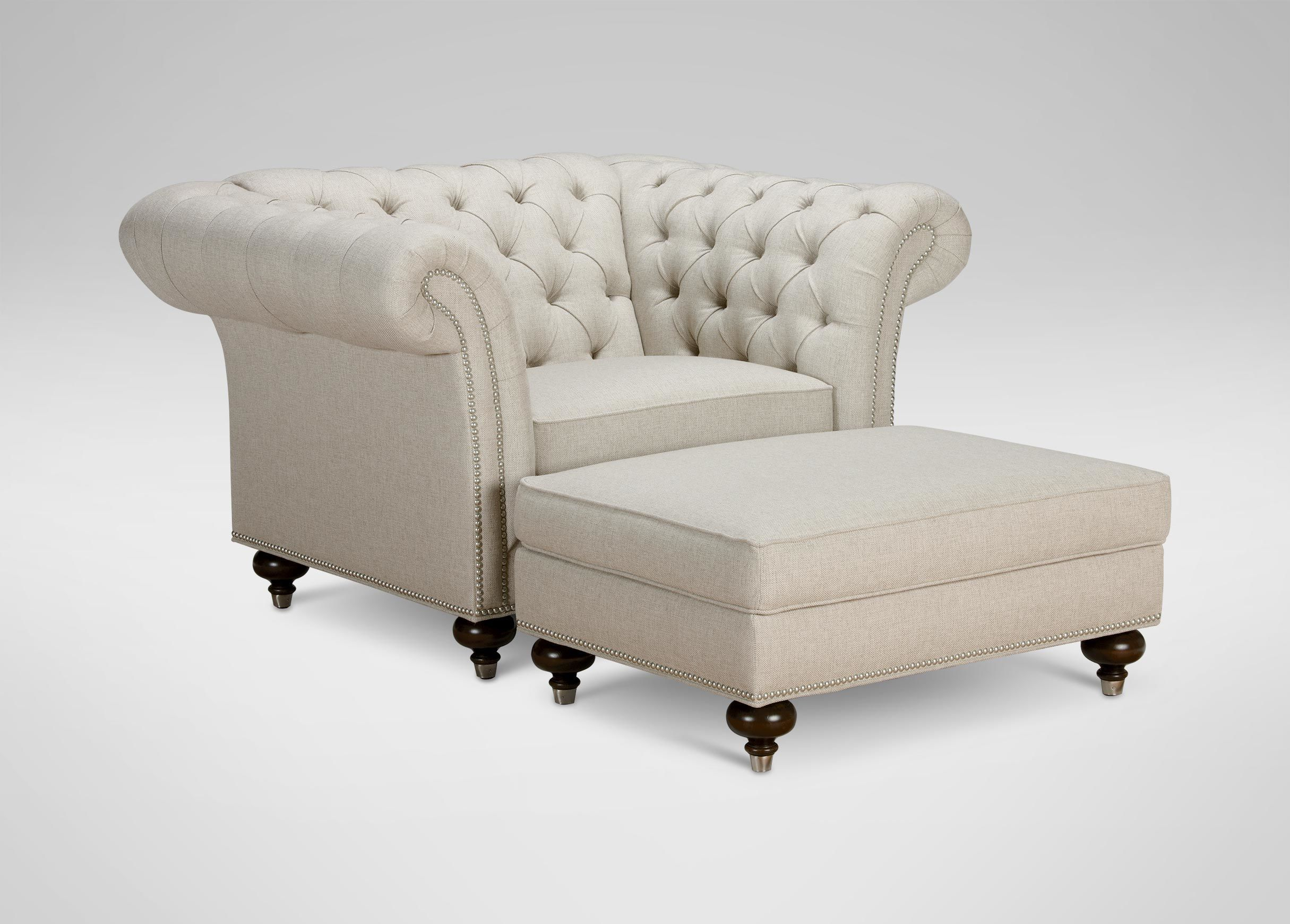 Mansfield Chair, Quick Ship | Ethan Allen | For The Home | Living With Mansfield Beige Linen Sofa Chairs (Image 15 of 25)
