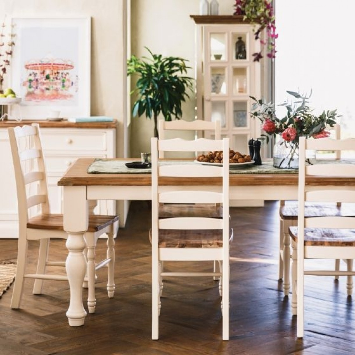 Mansfield Dining Table 2100 With 6 Mansfield Chairs Package For Mansfield Beige Linen Sofa Chairs (Image 16 of 25)