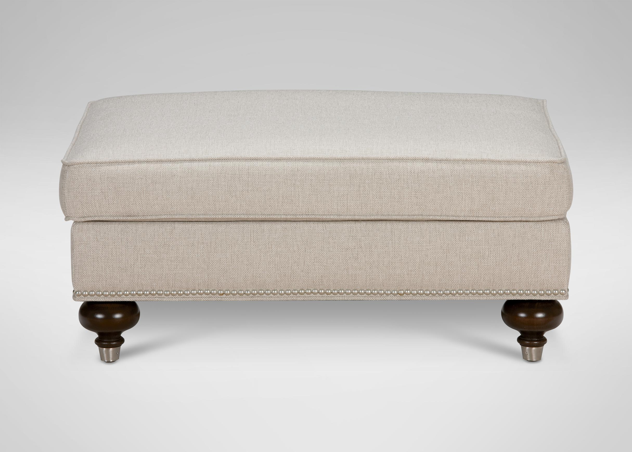 Mansfield Ottoman, Quick Ship | Ottomans & Benches in Mansfield Beige Linen Sofa Chairs