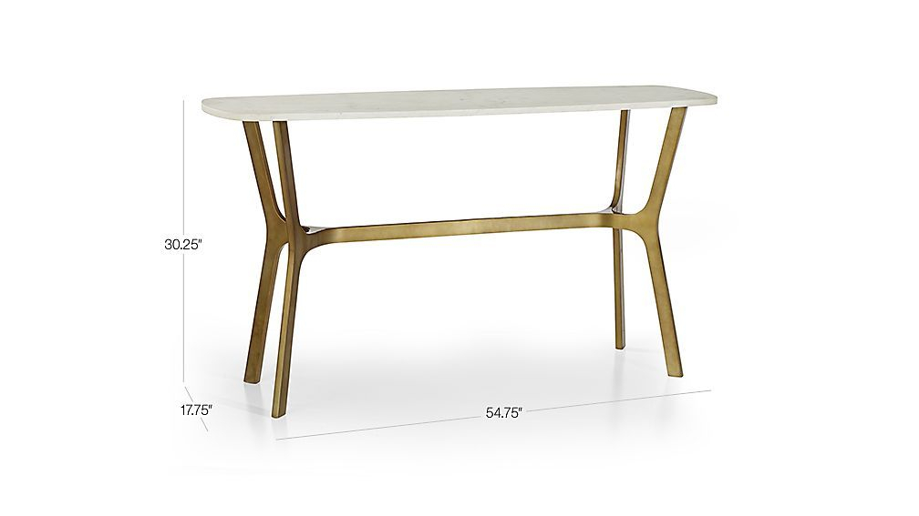 Featured Image of Elke Marble Console Tables With Brass Base
