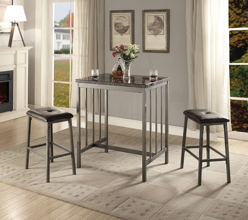 Marble Top Bar Table (Image 15 of 25)