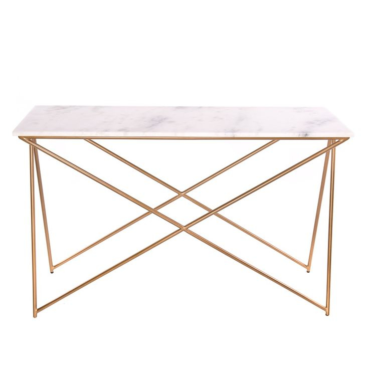 Marble Top Console Table – Betinfon (Image 12 of 25)