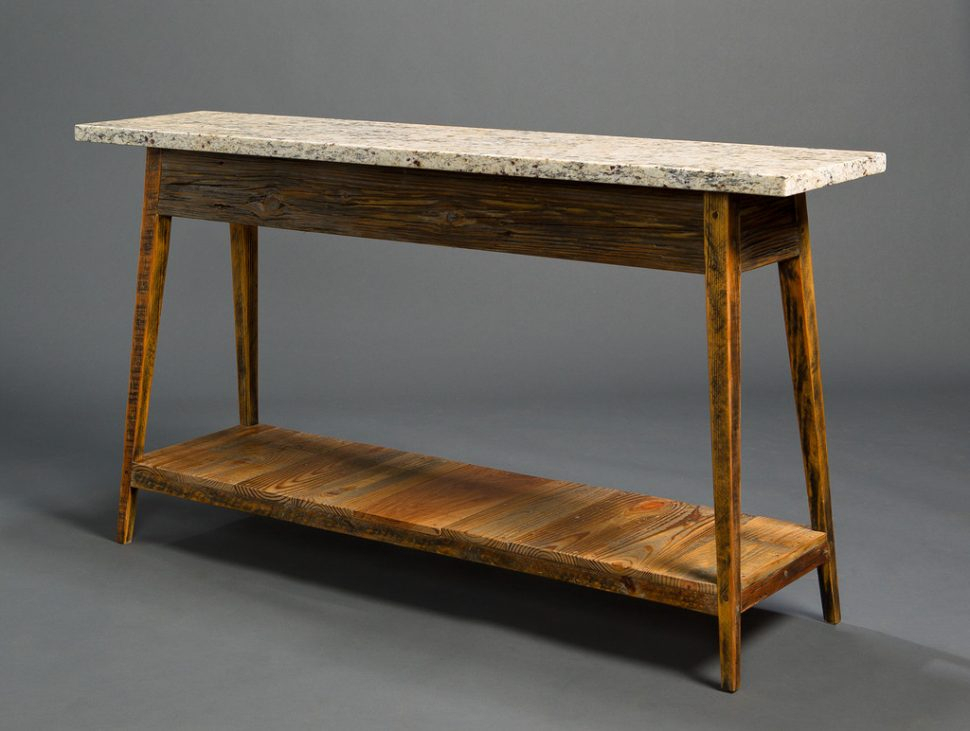 Marble Top Console Table – Bwburnett Pertaining To Favorite Parsons Black Marble Top & Elm Base 48X16 Console Tables (Image 12 of 25)