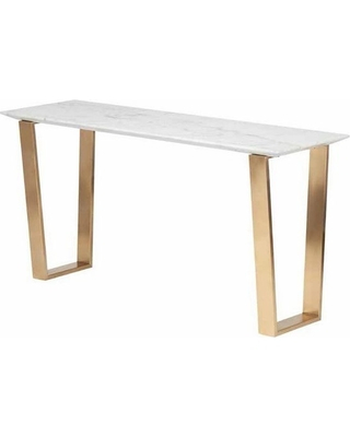 Marble Top Console Table – Bwburnett Regarding Most Up To Date Parsons White Marble Top & Stainless Steel Base 48X16 Console Tables (Image 11 of 25)