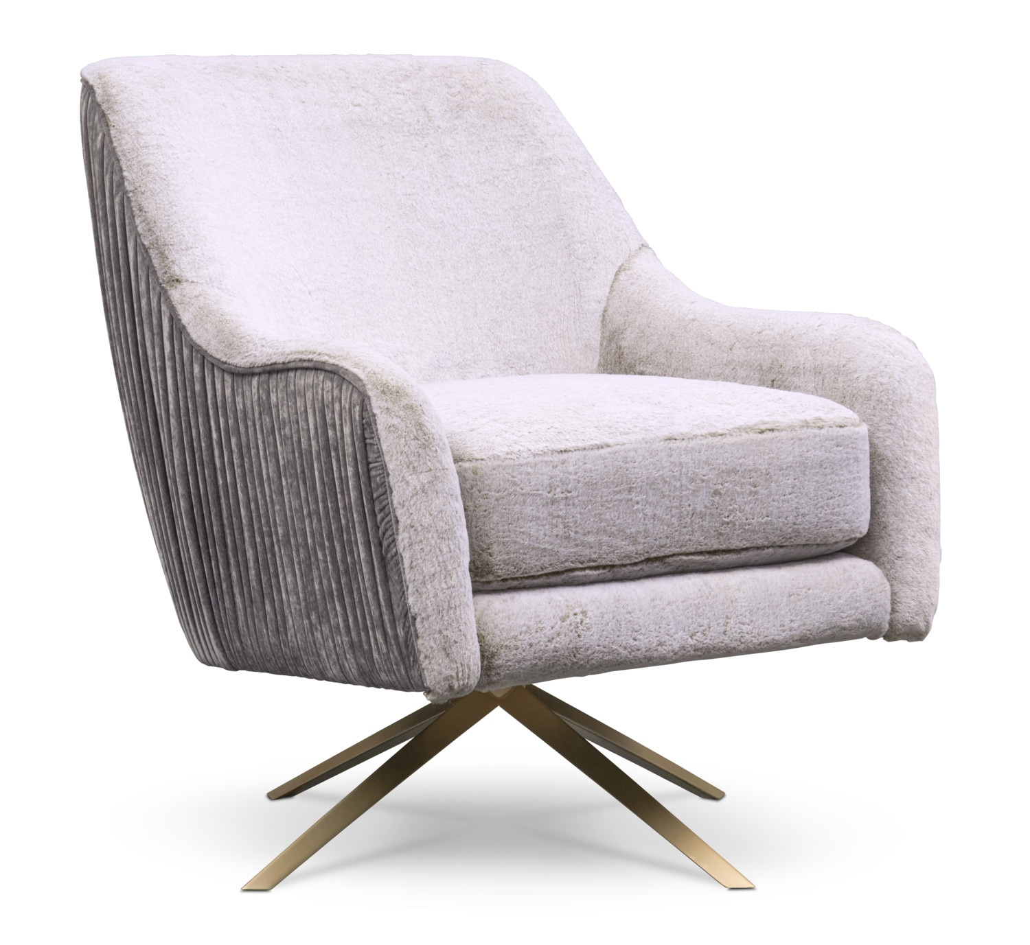 Margot Swivel Chair – Gray | American Signature Furniture Throughout Loft Black Swivel Accent Chairs (View 24 of 25)