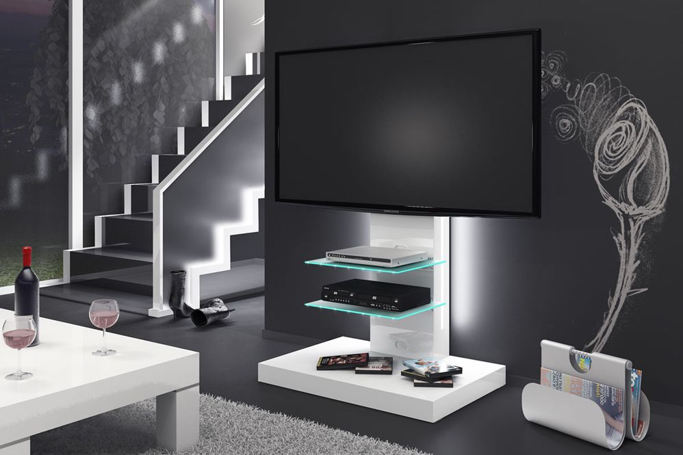 Marino White Tv Stand With Regard To Most Recently Released Gloss White Tv Cabinets (View 6 of 25)