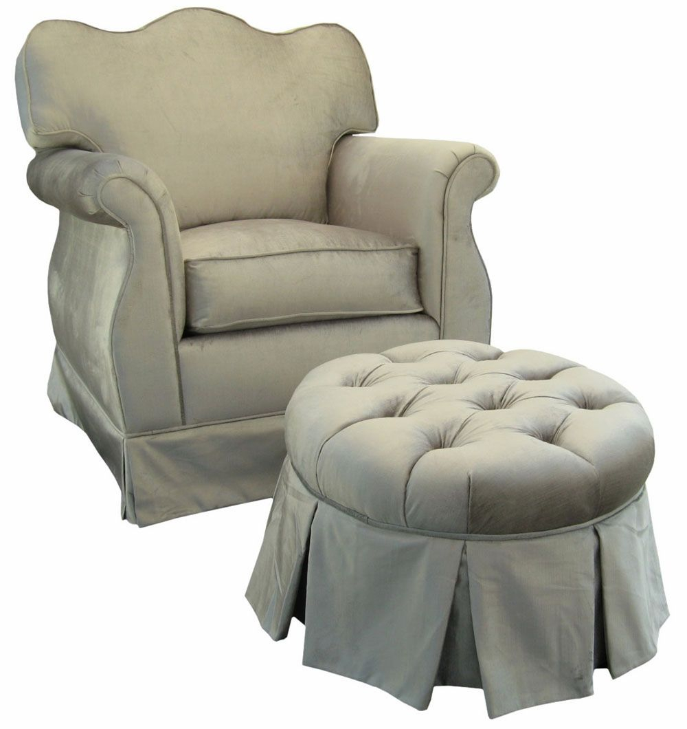 Mario Lopez Has This Silver Glider And Ottoman In His Baby Girl's Throughout Mari Swivel Glider Recliners (View 8 of 25)