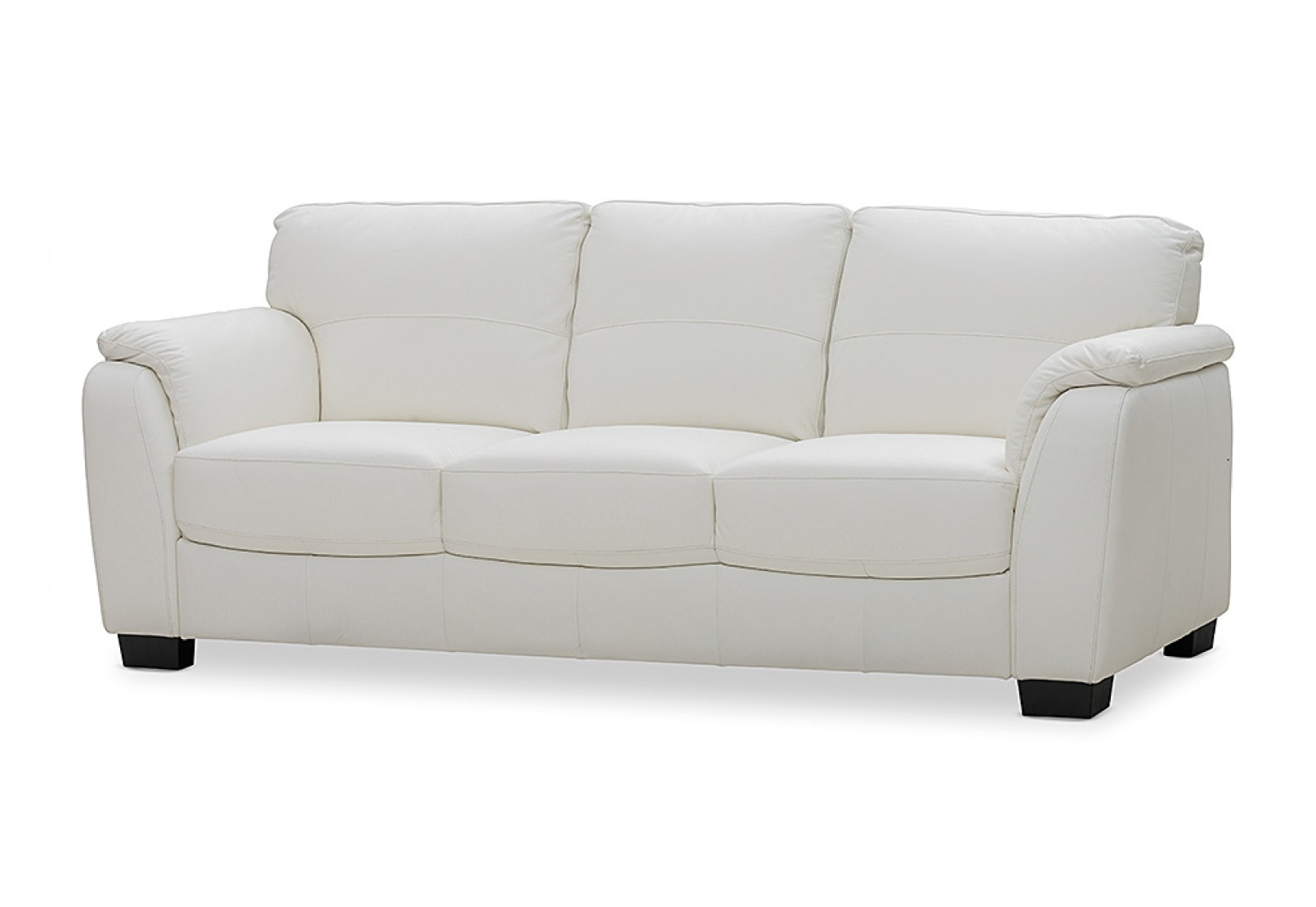 Marissa Leather 3 Seater Sofa | Amart Furniture With Marissa Sofa Chairs (View 15 of 25)