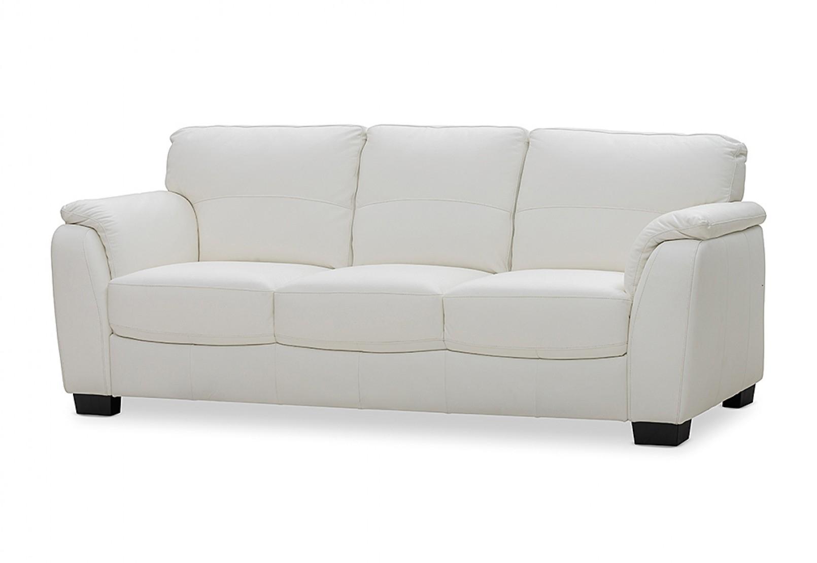 Marissa Leather 3 Seater Sofa | Amart Furniture With Marissa Sofa Chairs (Image 15 of 25)