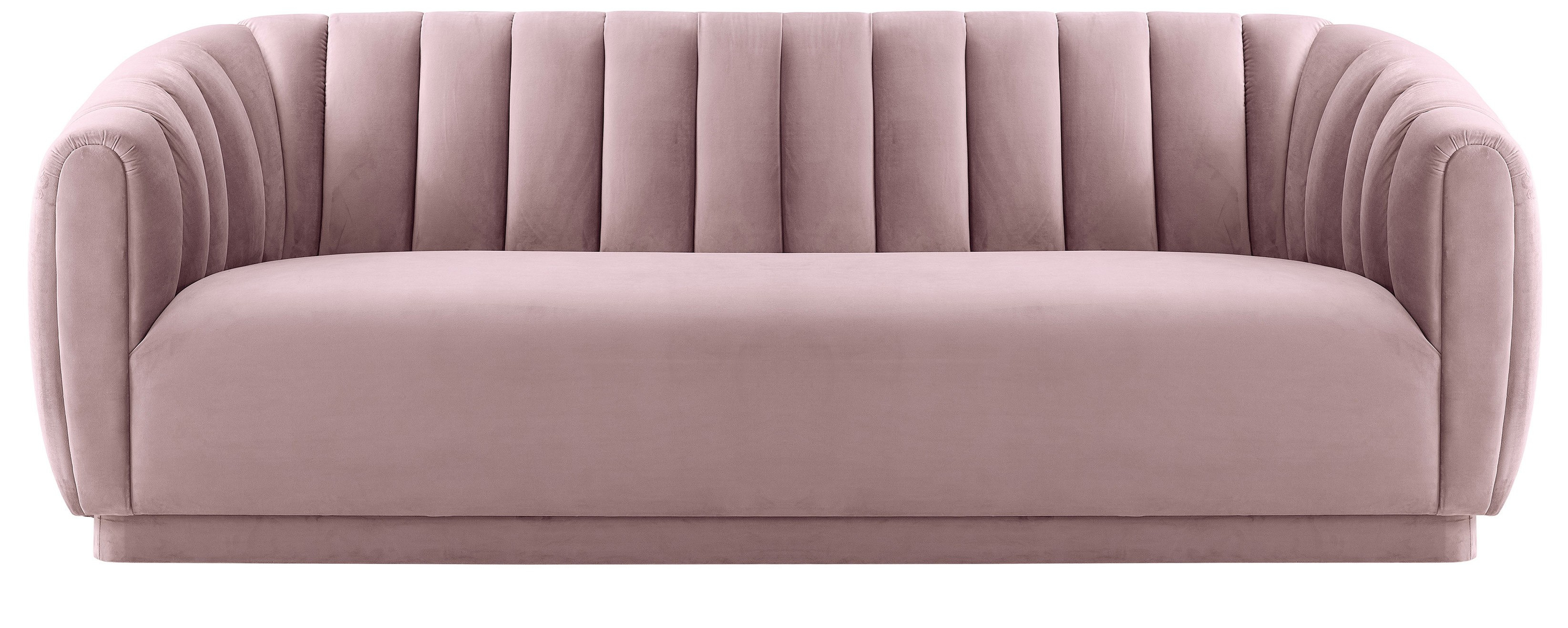 Marissa Velvet Sofa, Blush Inside Marissa Sofa Chairs (View 7 of 25)