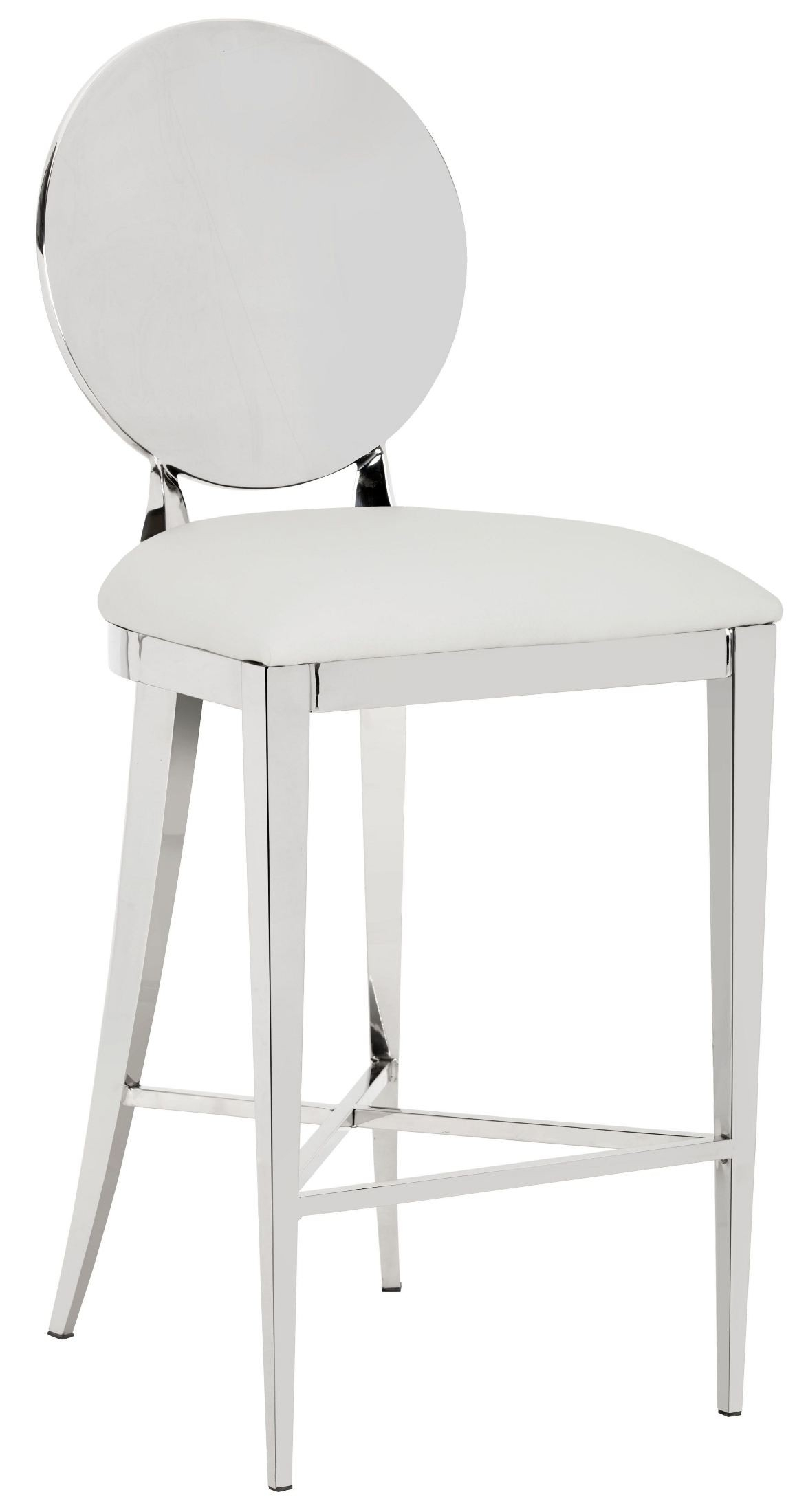 Marissa White Counter Stool From Sunpan | Coleman Furniture Regarding Marissa Sofa Chairs (Image 23 of 25)