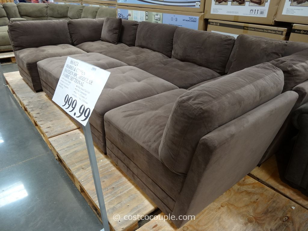 Marks And Cohen Hayden 8 Piece Modular Fabric Sectional Costco | For For Cohen Foam Oversized Sofa Chairs (View 4 of 25)