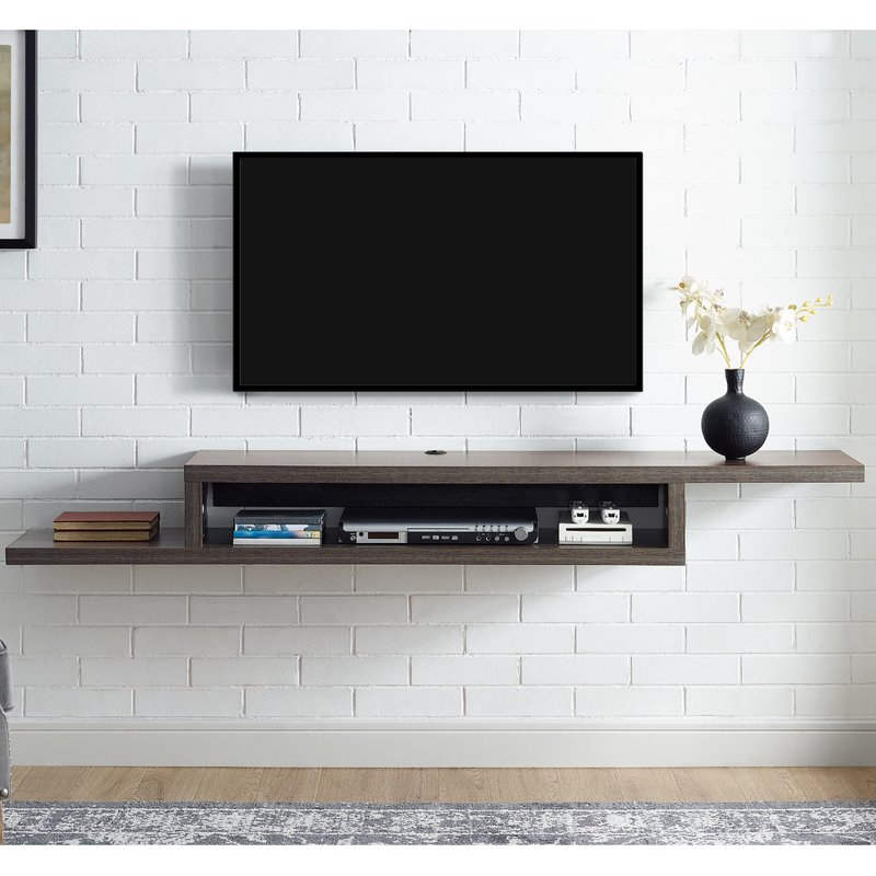 "Martin Home Furnishings Ascend 60"" Asymmetrical Wall Mounted Tv For Fashionable Wall Mounted Tv Racks (Image 13 of 25)"