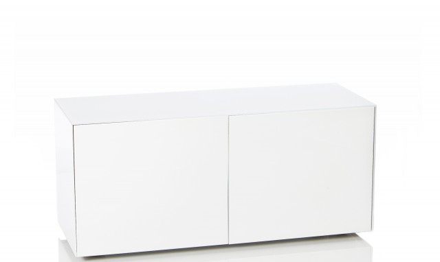 """Marvel – 55"""" White High Gloss Tv Unit – Fishpools Inside Most Current High Gloss Tv Cabinets (View 17 of 25)"""