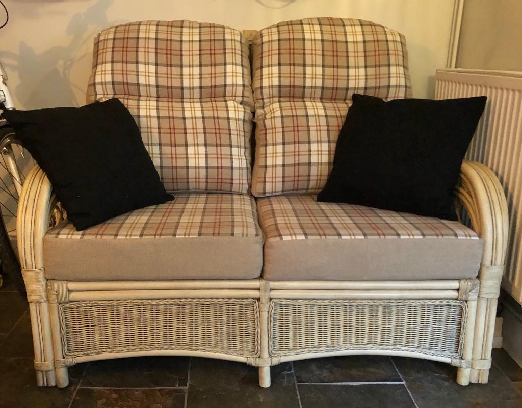 Matching Cane Sofa And Arm Chair | In Exmouth, Devon | Gumtree For Devon Ii Arm Sofa Chairs (View 21 of 25)