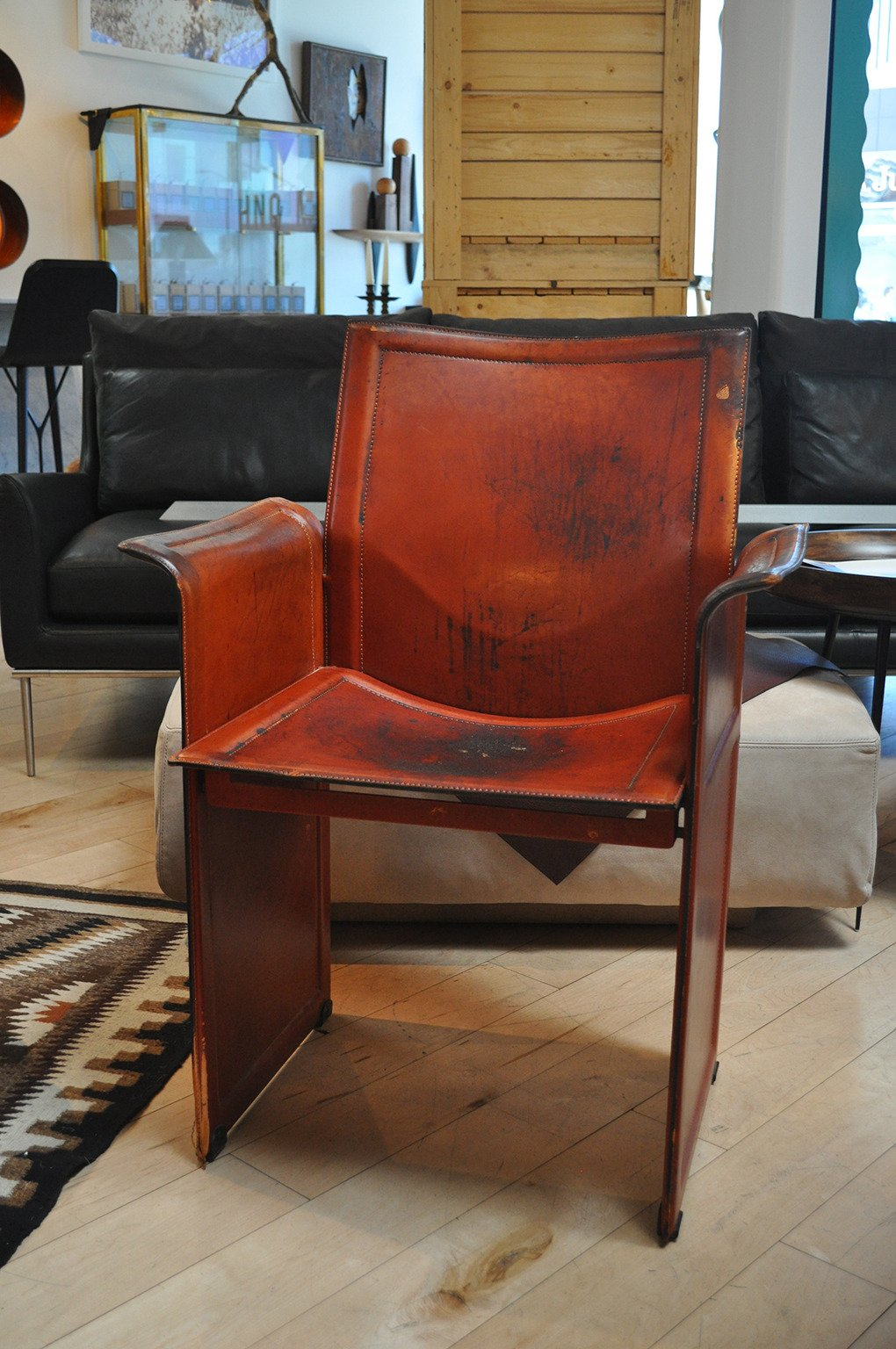 Matteo Grassi Leather Armchair For Sale At 1Stdibs Within Matteo Arm Sofa Chairs (Image 12 of 25)