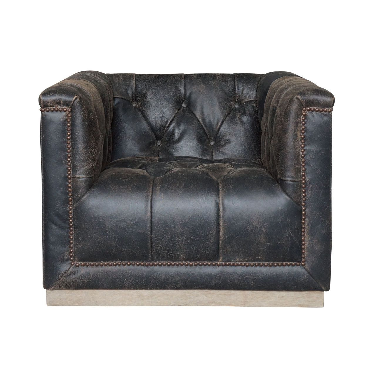 Maxx Distressed Black Leather Swivel Club Chair | Interior Ideas Inside Loft Smokey Swivel Accent Chairs (View 12 of 25)