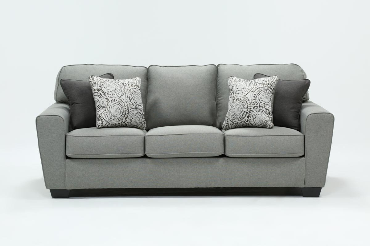 Mcdade Ash Sofa | Living Spaces Regarding Mcdade Graphite Sofa Chairs (View 18 of 25)