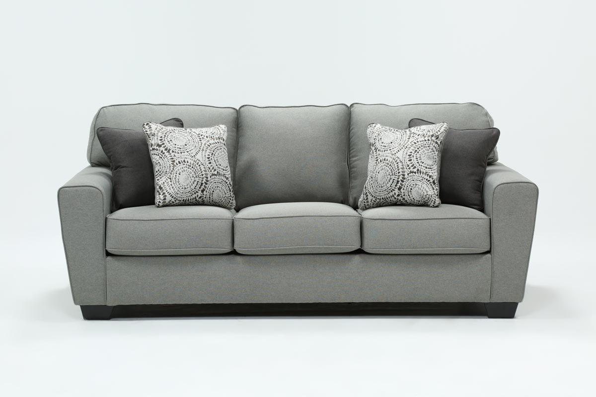 Mcdade Ash Sofa   Living Spaces Regarding Mcdade Graphite Sofa Chairs (Image 12 of 25)