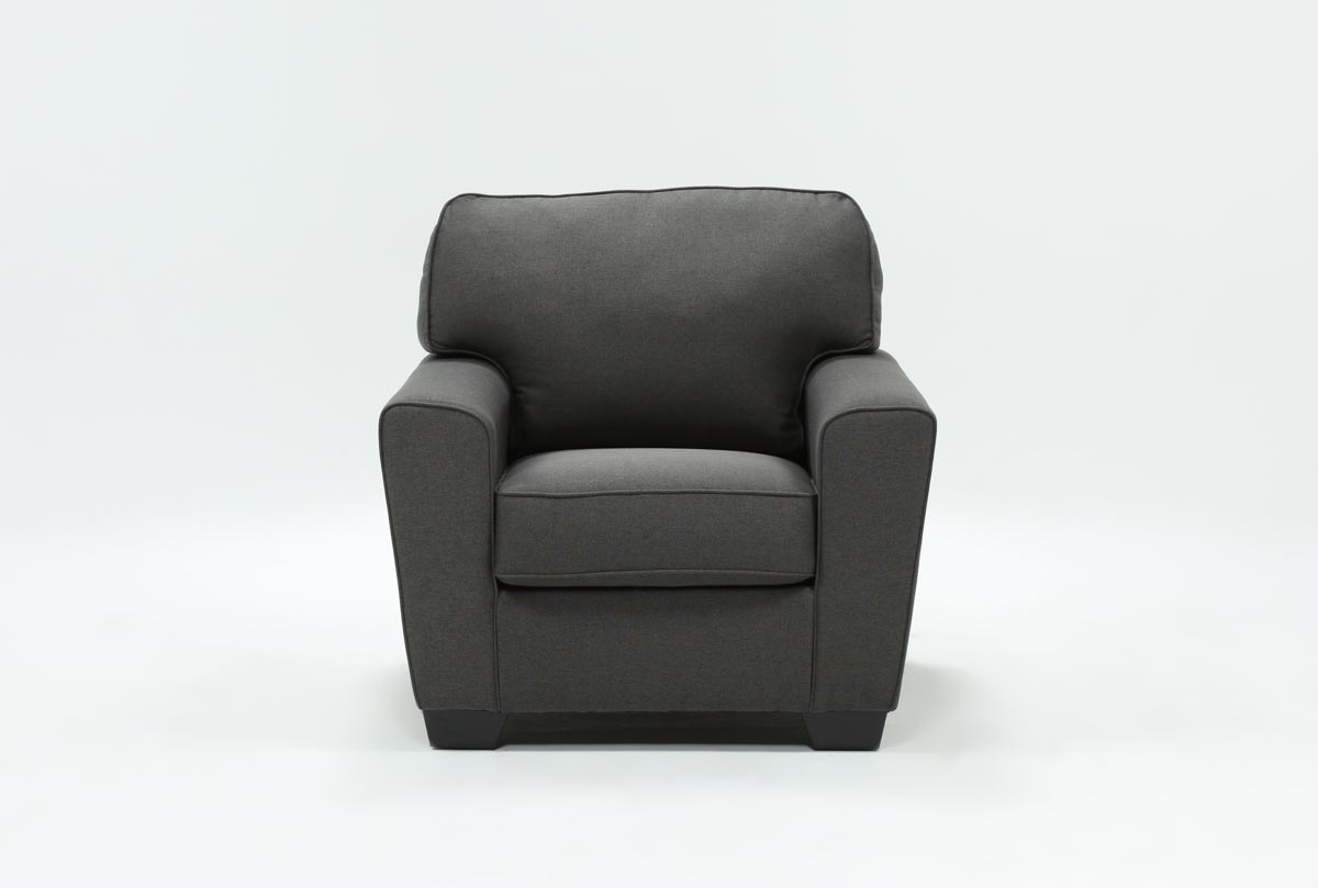Mcdade Graphite Chair | Living Spaces Pertaining To Mcdade Graphite Sofa Chairs (Photo 10 of 25)