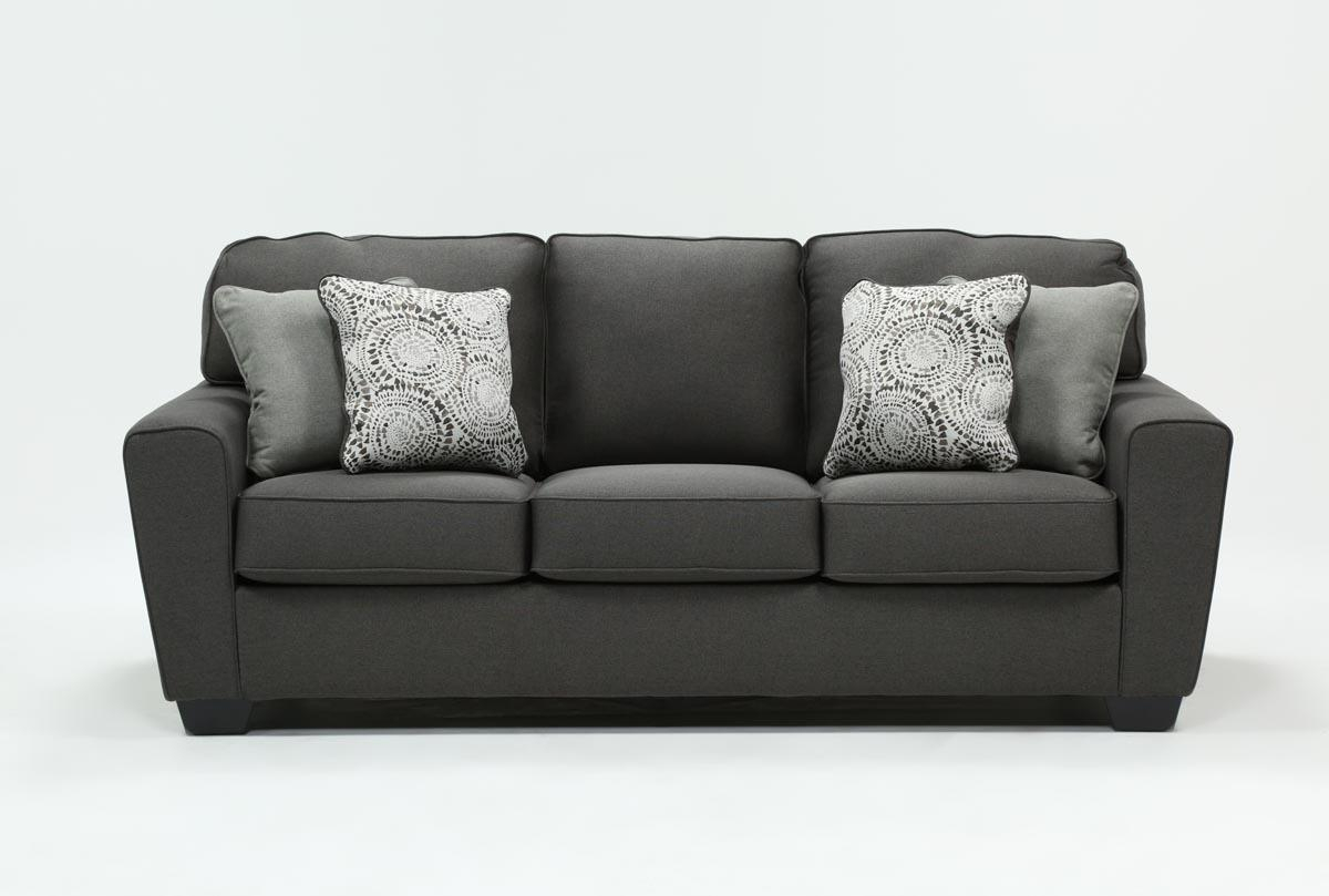 Mcdade Graphite Sofa | Living Spaces In Mcdade Graphite Sofa Chairs (View 1 of 25)