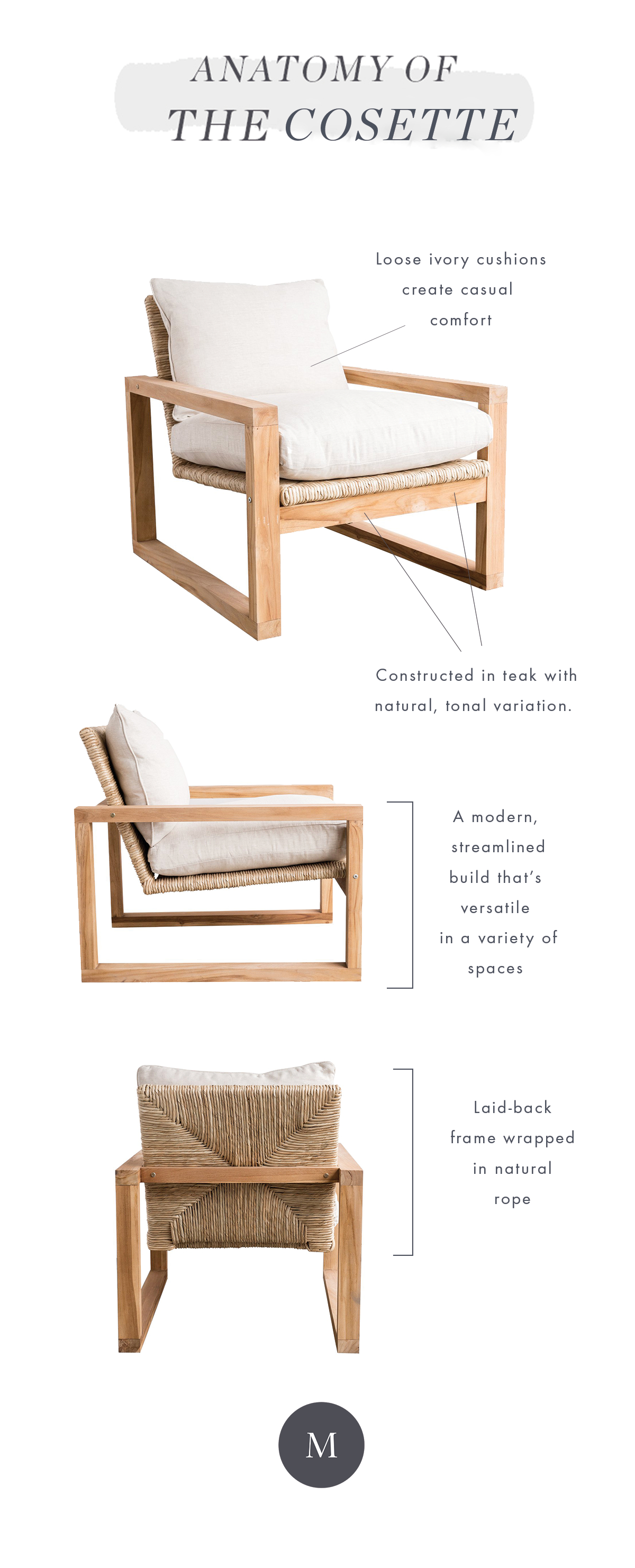 Meet The Cosette Chair In 2018 | Studio Mcgee Blog | Pinterest In Cosette Leather Sofa Chairs (Image 22 of 25)