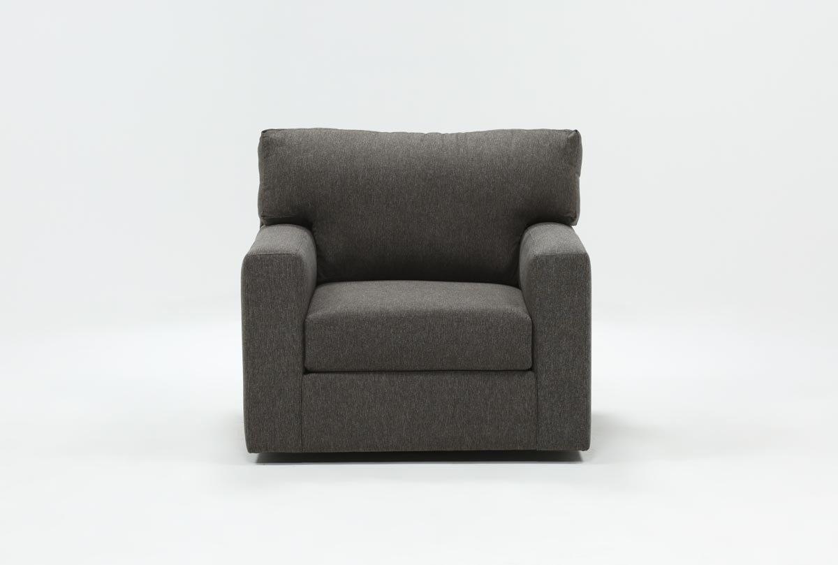 Mercer Foam Swivel Chair | Living Spaces For Mercer Foam Oversized Sofa Chairs (View 2 of 25)