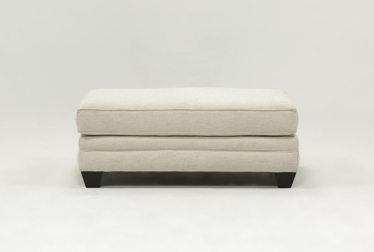 Mesa Foam Ottoman | Living Spaces Regarding Cohen Foam Oversized Sofa Chairs (Image 10 of 25)