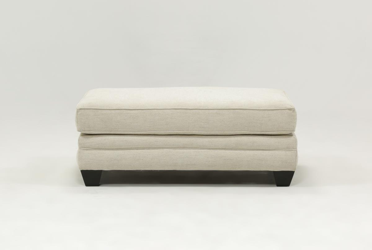Mesa Foam Ottoman | Living Spaces With Mercer Foam Oversized Sofa Chairs (Image 15 of 25)