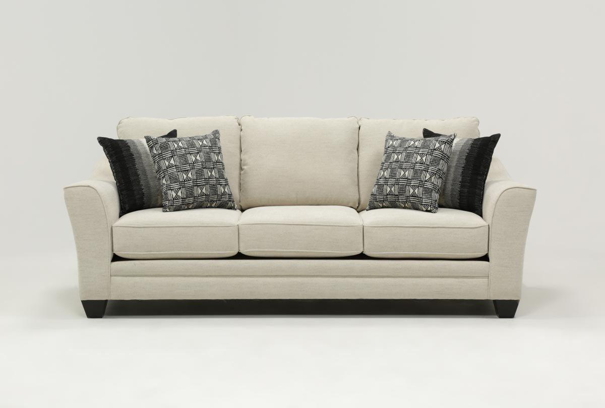 Mesa Foam Sofa | Living Spaces Regarding Cohen Foam Oversized Sofa Chairs (Image 12 of 25)
