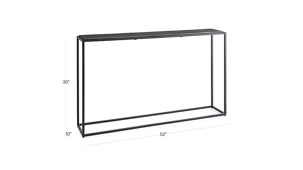 Featured Image of Mix Leather Imprint Metal Frame Console Tables