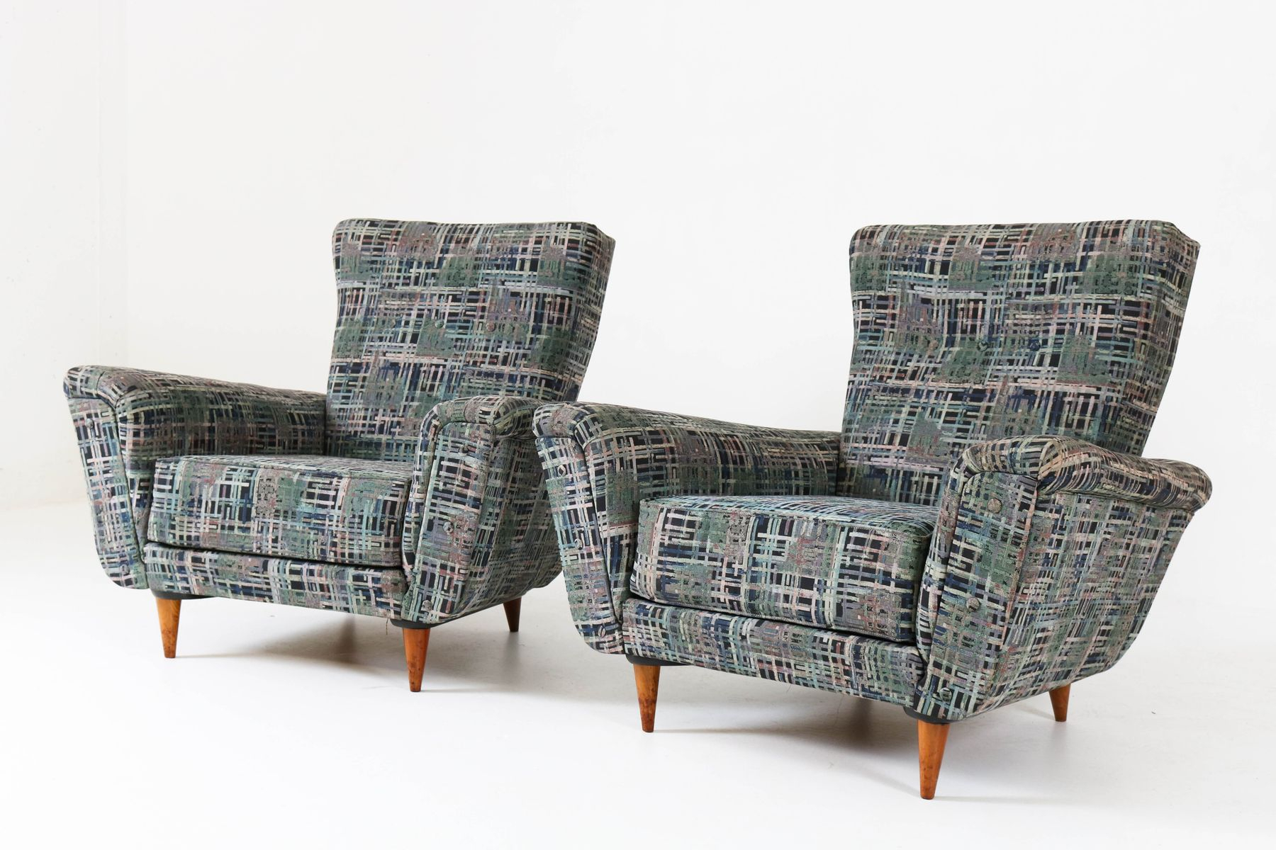 Mid-Century Lounge Chairstheo Ruth For Artifort, 1950S, Set Of 2 in Theo Ii Swivel Chairs