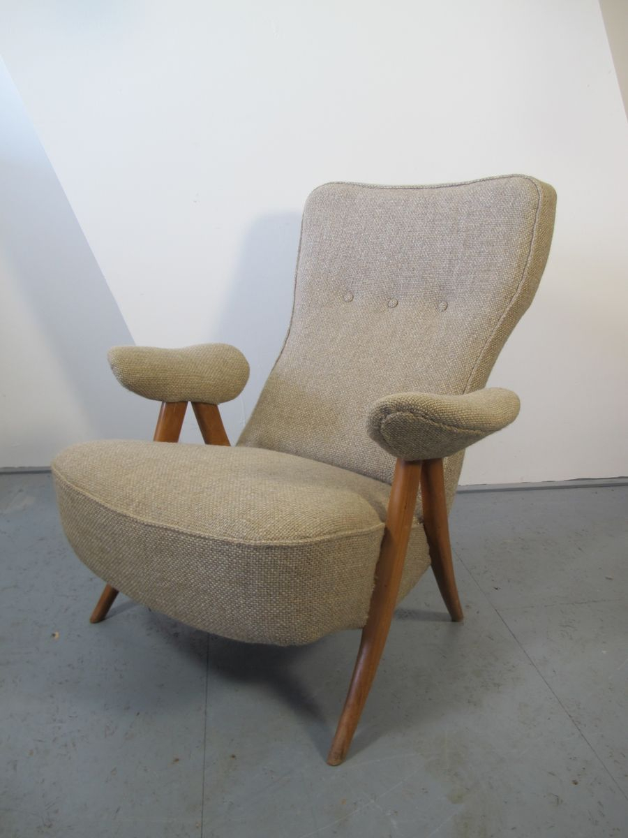 Mid Century Lounge Chairstheo Ruth For Artifort, 1950S, Set Of 2 With Regard To Theo Ii Swivel Chairs (Image 9 of 25)