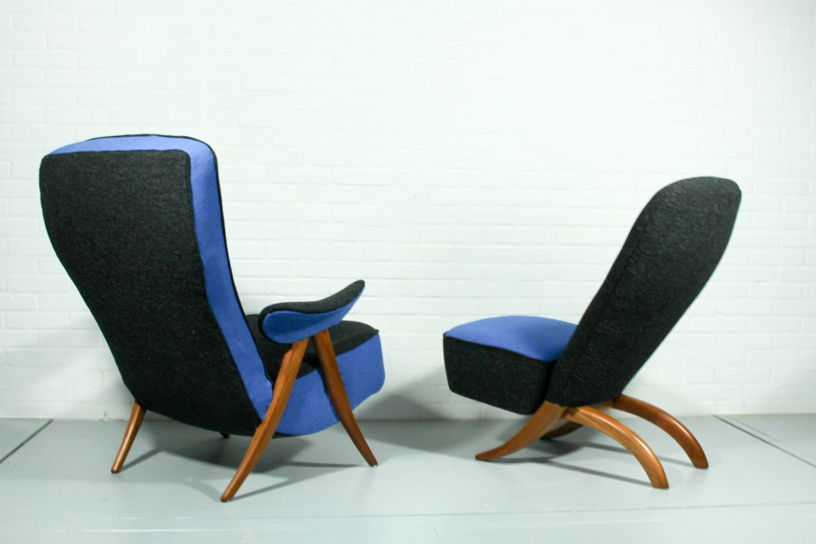 Mid Century Model 107 & Congo Lounge Chairstheo Ruth For With Theo Ii Swivel Chairs (View 7 of 25)