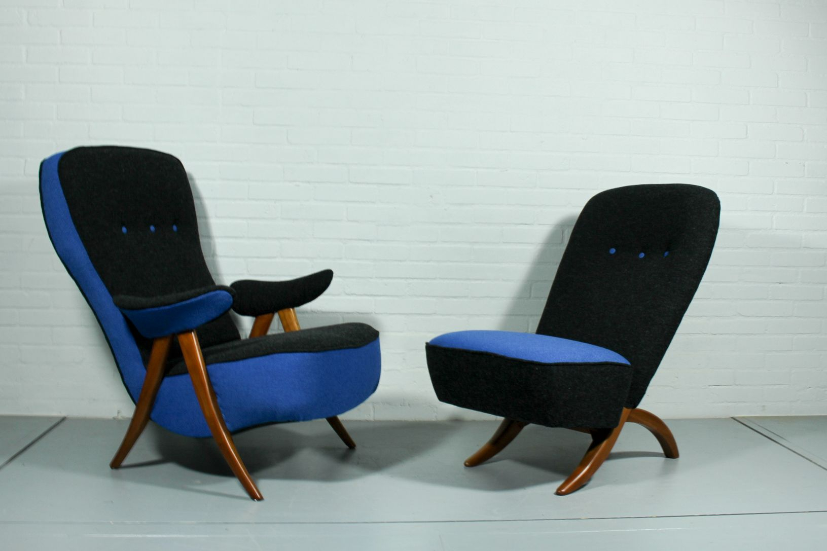 Mid Century Model 107 & Congo Lounge Chairstheo Ruth For Within Theo Ii Swivel Chairs (Image 12 of 25)