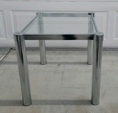 Mid Century Style, Milo Baughman Era, Waterfall  Curved  All Glass In Most Recent Era Glass Console Tables (Image 12 of 25)