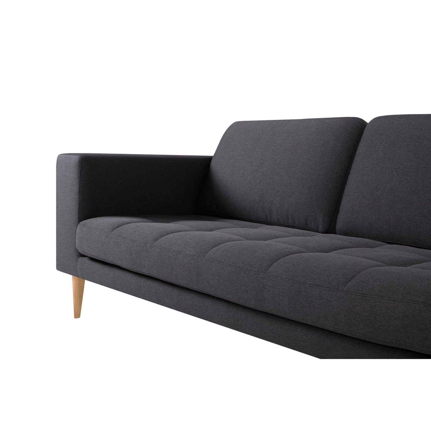 Milano 3 Seater Sofa | Aif London Intended For London Dark Grey Sofa Chairs (Image 15 of 25)