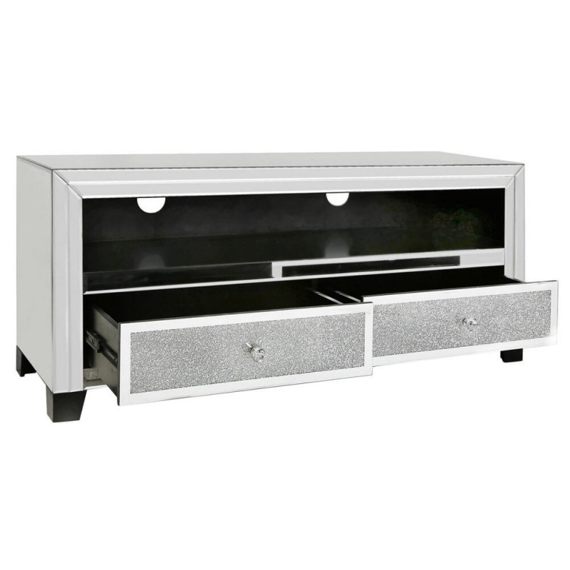 Milano Clear Mirrored Crystal Tv Unit (View 18 of 25)