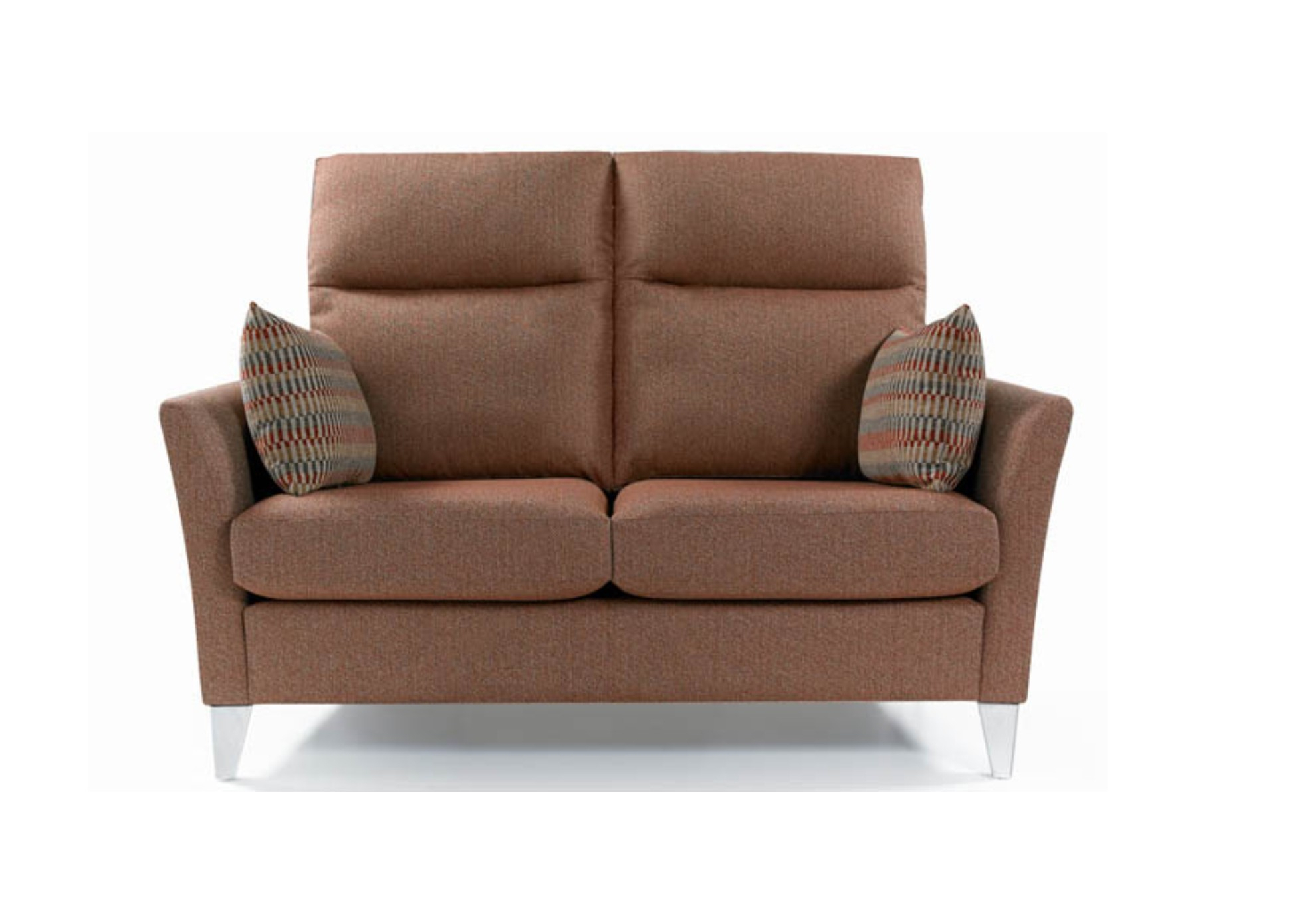 Milo 2 Seater High Back Sofa Contemporary Styling With Luxurious Comfort Inside Milo Sofa Chairs (Image 11 of 25)