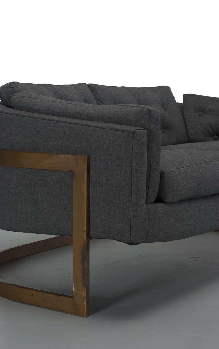 Milo Baughman Bronze Cantilever Sofa   Furniture – Sofas   Pinterest Inside Milo Sofa Chairs (Image 12 of 25)