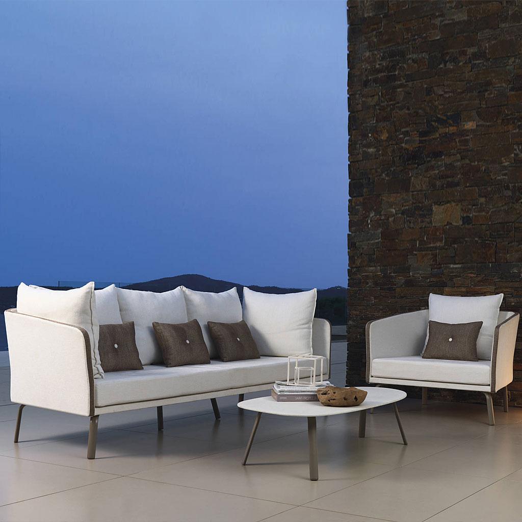 Milo Fabric Contemporary Garden Sofa Set | Luxury Quality Garden Sofa (View 4 of 25)