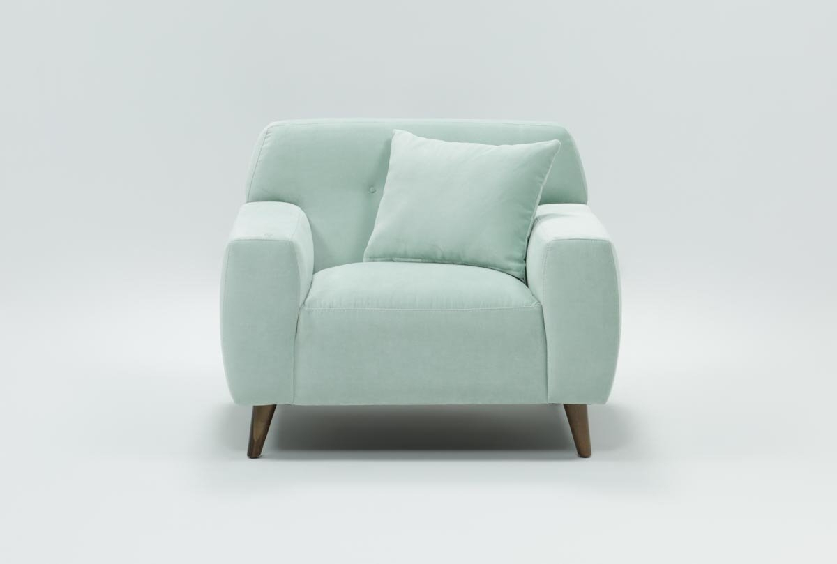 Mitchell Arm Chair | Living Spaces Pertaining To Patterson Ii Arm Sofa Chairs (Image 7 of 25)