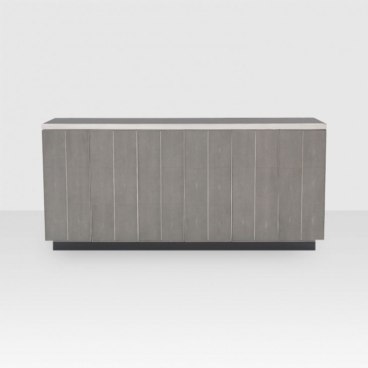 Mitchell Gold + Bob Williams Bond Media Console – Elte In Latest Grey Shagreen Media Console Tables (Image 12 of 25)