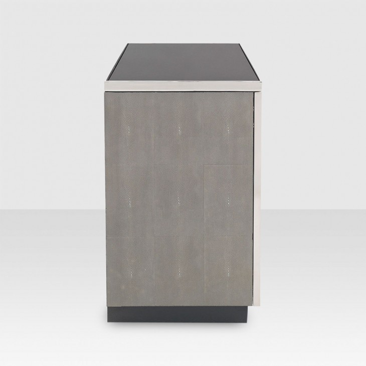 Mitchell Gold + Bob Williams Bond Media Console – Elte Regarding Well Liked Grey Shagreen Media Console Tables (Image 13 of 25)